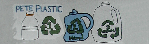 images for #1 and #1 plastics