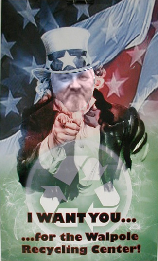 Uncle Sam poster (with Paul's face): Want you to volunteer!