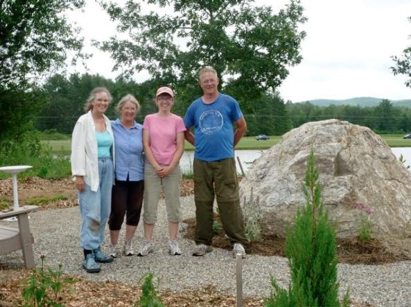 volunteers who helped create the garden